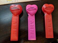 PEZ Dispenser Retro Happy Valentines Day Lot 3 Hungary  No feet Vintage