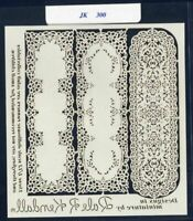 8 DOLLHOUSE Paper Lace Doilies jk110 Jeannetta Kendall Make Valentines round