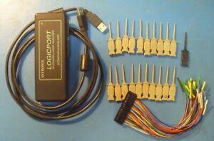 Intronix LogicPort 34 channel Logic Analyzer, 16 HP mini grabbers. MADE IN USA