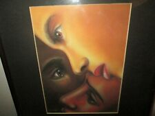 Art by Larry Poncho Brown Black is Black, Females, Matted Quality Custom Framed