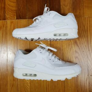 Nike Air Max 90 Essential Triple White Running Shoes Men's Size 10 537384-111