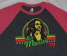 Retro Bob Marley 79 1979 Baseball Long Sleeve Tee T-Shirt - Size Xxl 2X