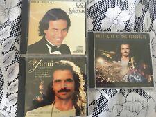Lot of 3 Yanni & Julio Iglesias Acropolis, 1100 Bel Air Place, Nightbird EC