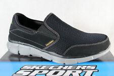 Skechers Uomo Pantofola Sneakers Scarpe Basse Scarpe da Ginnastica Nero Nuovo