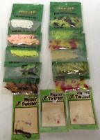 lot of plastic Rubber Fishing worms soft baits Jann's Netcraft fishing Tackle