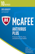 Mcafee Antivirus Plus 2017 10 Devices 1 Year ESD Code