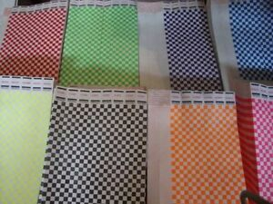 """10 x 8 Checkered Tyvek Wristbands Event Party 3/4"""" Consecutive  10 of 8 colors"""