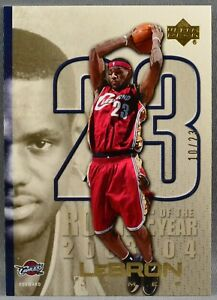 05-06 Upper Deck UD Lebron James #LJ19 ROOKIE OF THE YEAR GOLD #10/23 2005 2006