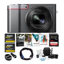 Panasonic LUMIX 4K Digital Camera Silver with Case and 64GB SD Card Bundle