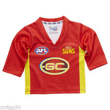 Child size 1 GOLD COAST SUNS long sleeve guernsey top AFL NEW  boys girls jumper