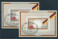Bund Block 10 gestempelt (2 Stück) ETSST Bonn BRD 25 Jahre Bundesrepublik used