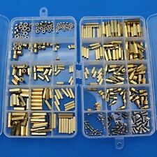 360pcs M2 M3 M4 Male Female Brass Spacer Standoff Screw Nut Assortment Kit With