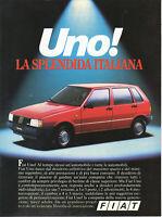 Depliant Brochure Pubblicitaria FIAT UNO AUTO Splendida Italiana