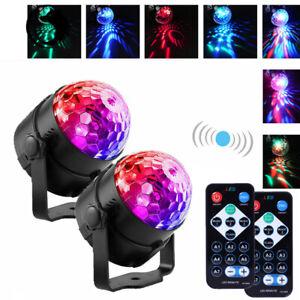 2X LED Discokugel Lichteffekt Magic RGB DJ Party lichtorgel Bühnenbeleuchtung DE