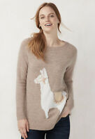 Women's LC Lauren Conrad Long Sleeve Knit Sweater Lama Sweater Size XS NEW