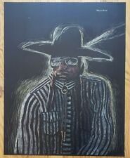 Wallace Begay Original Scratchboard Drawing