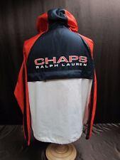 Ralph Lauren Chaps men's size Large coat CRL Orange Large spellout back w/ hood