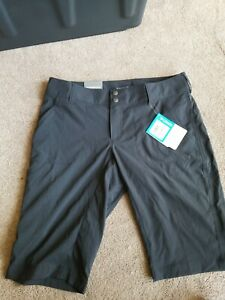 Columbia Women's 6 x12 Saturday Trail Long Short Water Stain Resistant Black New