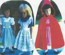 "Sewing Pattern fits 16"" Sasha dolls & other dolls same in size dress cape apron"