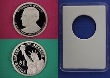 2013 S Proof Woodrow Wilson Presidential Dollar With DIY Slab Flat Rate Shipping