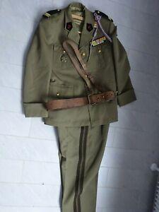 Uniform Frankreich Leutnant Algerien, Tunesien Pionier mit allen Abzeichen Orig.