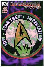 STAR TREK INFESTATION #2, NM-, Variant, Zombies vs Kirk, Spock, Bones, 2011