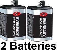 2 PACK EVEREADY 6V Carbon-Zinc Super Heavy Duty Lantern Battery
