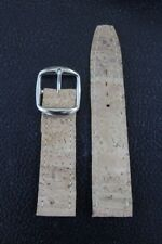 22mm Genuine Portuguese Cork Watch Band - Hand Stitched