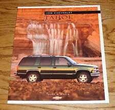 Original 1998 Chevrolet Tahoe Sales Brochure 98 Chevy