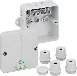Weatherproof Junction Box Outdoor IP65 Electrical Cable Enclosure External Lugs