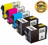 T252XL 252 XL 252XL Ink Cartridge Fit Epson WorkForce WF-3620 WF-3640 WF-7610