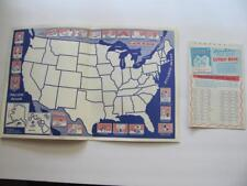 1961 United States Paste-Up-Map Educational Game Stuyvesant Life Insurance PA