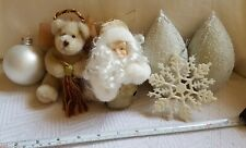 Mixed Lot 6 Vintage Christmas Xmas  Ornaments decor w some defects pre-owned