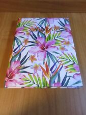 1 x Address Book Pink Hibiscus Hardcover 110mm X 100mm free postage