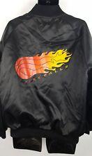 Vintage MAK Lein Satin Fireballs Jacket XL Basketball Game 80s 90s J8