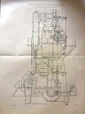 1900 3000 Hp Triple Expansion Engines Sulzer Bros Switzerland Plan