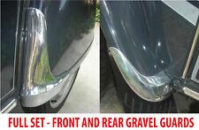 FRONT & REAR Citroen 2CV Robri Style Gravel Guards Polished Trim SET VAC044+043