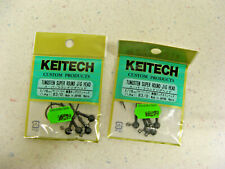 (2) KEITECH Tungsten Jig Head Super Round 4 PACK #3/0 1/16 OZ  Hook