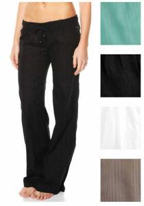 BILLABONG New Ladies Cotton Beach Pants COASTLINE CRUZ Mo Mint Size 10 Bargain