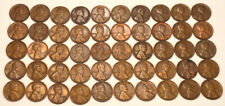 Lot of 50 US Lincoln - Wheat Pennies 1916-1957
