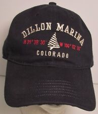 Dillon Marina Hat Cap Lake Colorado Sailing Fishing Boating USA Embroidery New