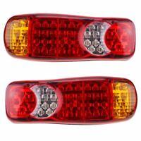 1 par 12V LED Lamparas luces de cola traseras 5 funciones Remolque Caravana D4S2