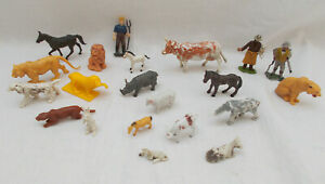 Job Lot Of Vintage Farm & Wild Animals & Figures