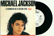 MICHAEL JACKSON Bad DUTCH EPIC Promo 9 Fragmenten uit de nieuwe Elpee VINYL 7""
