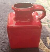 Vase Gräflich Ortenburg Keramik rot red west germany Fat Lava 60s 70s 675/19