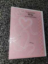 Wife anniversary card NEW - hearts