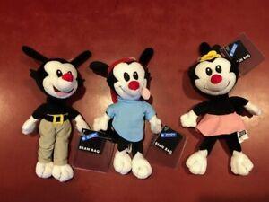 Warner Brothers Studio Store ANIMANIACS Yakko, Wakko and Dot  Bean Bag Plush NWT