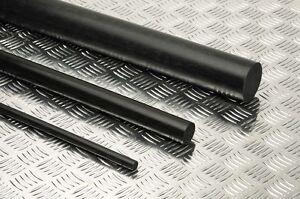 "Delrin - Acetal Plastic Rod 3/8"" OD x 6"" L - Black  Color"