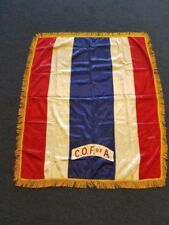 Rare Companions of the Forest of America (C.O.F of A.) Fringed Silk Banner
