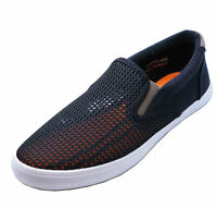 MENS SLIP-ON BLACK FLAT TRAINER PLIMSOLL PUMPS CASUAL DECK DRIVING SHOES UK 6-11